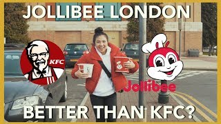 SHOCKING! JOLLIBEE LONDON vs KFC for the first time | YHMA Mukbang