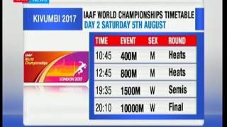 IAAF World Championship schedule
