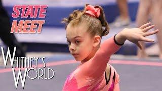 Whitney Bjerken   Level 8 State Gymnastics Meet   Beam Champion