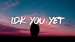 Alexander 23 – IDK You Yet (Lyrics)