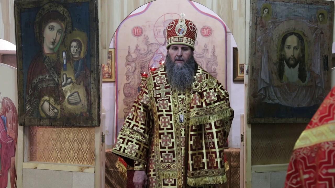 Литургия в день памяти Иова Многострадального. Проповедь митрополита Даниила