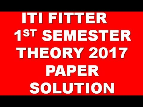 ITI FITTER 2017 JULY 1st SEMESTER WORKSHOP CALCULATION & DRAWING