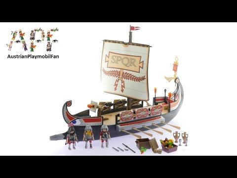 Vidéo PLAYMOBIL History 5390 : Galère romaine
