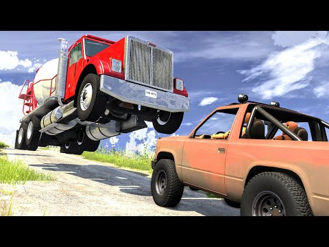Realistic Cliff Drops #5 - BeamNG Drive Crashes | CrashBoomPunk