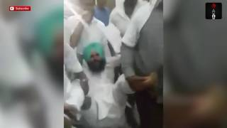 Simarjeet Singh Bains, Member Of Newly Formed Awaaz-e-Punjab Being Evicted From Vidhan Sabha