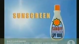 Baz Luhrmann - Everybody's Free To Wear Sunscreen