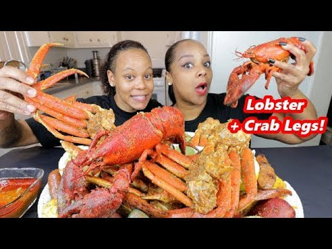 WHOLE LOBSTER + MUSSELS + CRAB LEGS SEAFOOD BOIL DRIPPING WITH SAUCE!!!