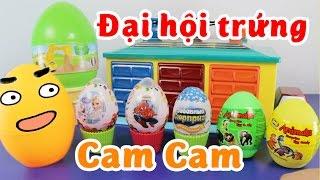 Đại Hội Mở Trứng Bất Ngờ Với CAM CAM, Elsa, Spiderman, Minion, Little Pony - ToyStation 18