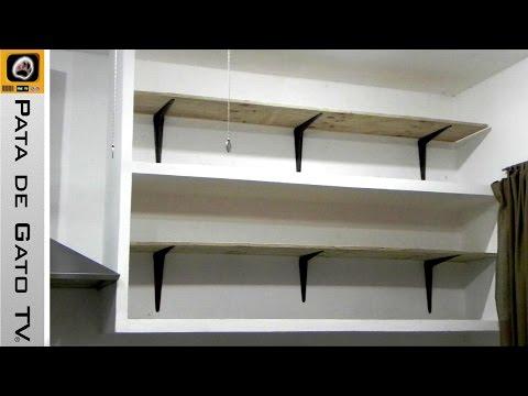 Como hacer e instalar repisas / Build and install shelves