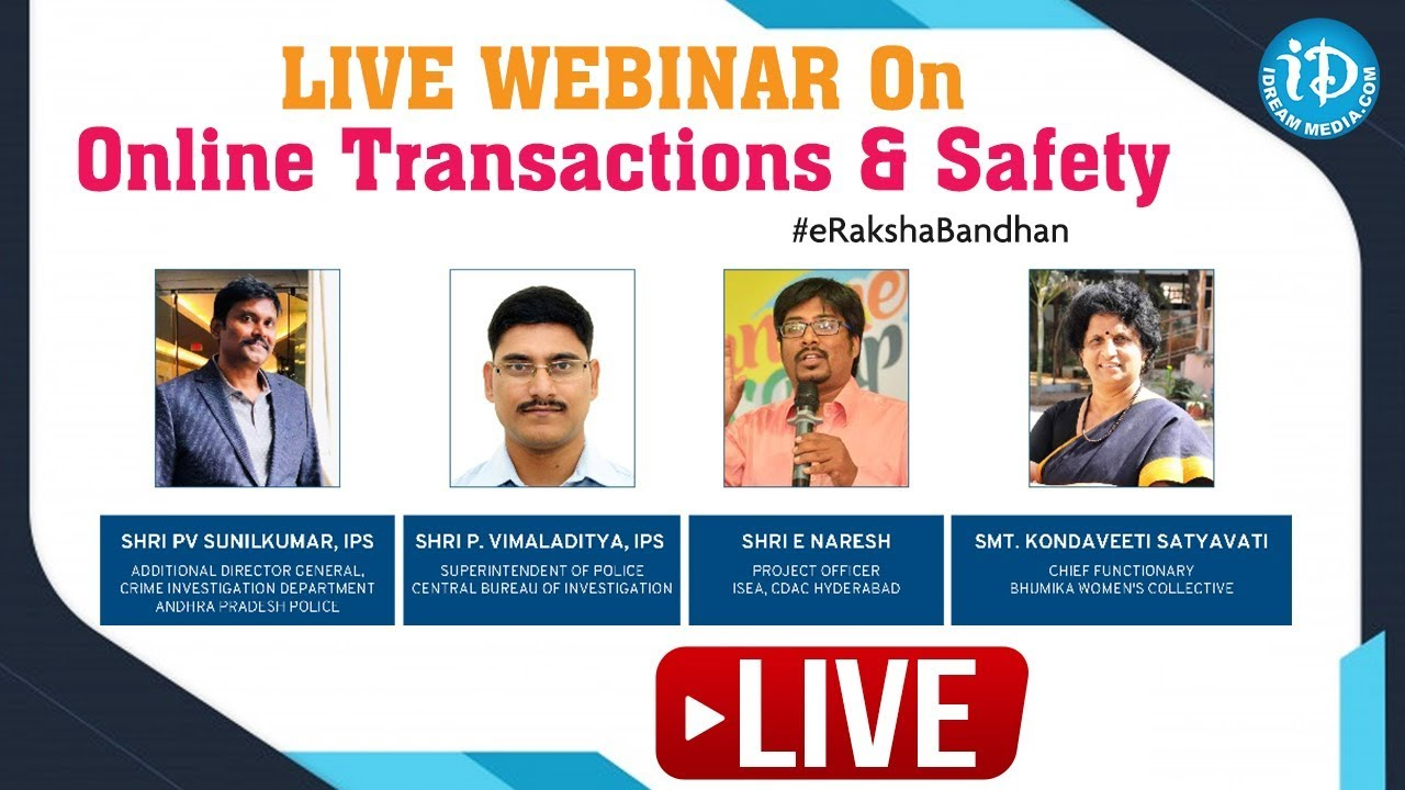 Live Webinar On Online Transactions & Safety #eRakshaBandhan