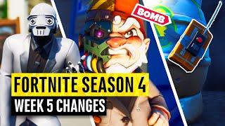 Fortnite | All Season 4 Map Updates and Hidden Secrets! WEEK 5
