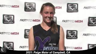2021 Paige Maier Pitcher and Slapper Softball Skills Video