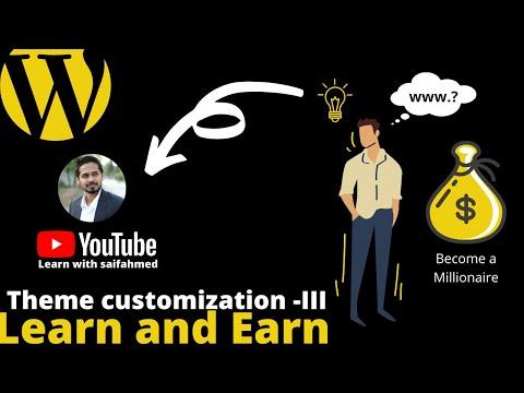 learn and earn #10 WordPress theme customization - III