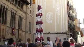 preview picture of video 'Castellers de Lleida: 4 de 8 (c) Diada de Sant Miquel 2013'