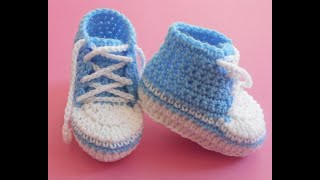 Baby Booties Converse Lace Up Shoes Easy (0-3)