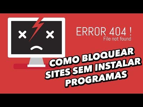 Como Bloquear Sites Sem Instalar Programas No Computador