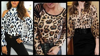 Gorgeous Leopard Print Designs For Blouses And Simple Everyday Office Wear Dresses