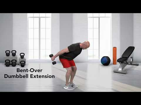 Bent Over Dumbbell Tricep Kickback