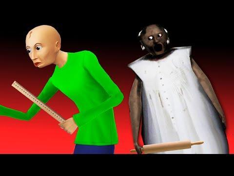 ЧТО БАЛДИ НАШЕЛ В ПОДВАЛЕ ЗЛОЙ БАБУШКИ ГРЕННИ все серии СТРАШИЛКИ мультики онлайн видео
