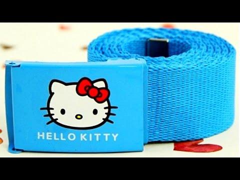Холщовый или тканевый детский ремень Hello Kitty для девочек. Aliexpress
