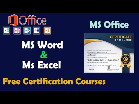 MS Office Free Course With Certificate | MS Word and MS Excel Free Certification Course 2020
