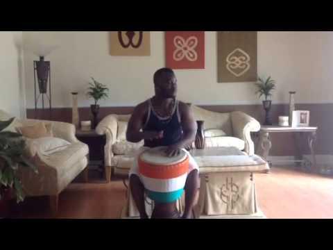 Flaly Ivory Coast Djembe Drum Eric Bli Bi Gore