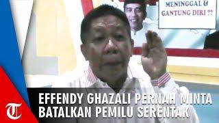 Effendy Ghazali Akui Pernah Minta Batalkan Pemilu Serentak ke MK