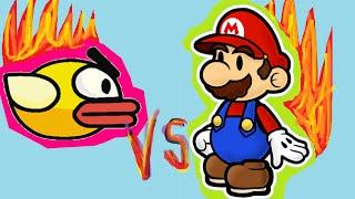 SUPER MARIO VS FLAPPY BIRD CARTOON | KIDZONECHANNEL