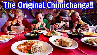 """Best Mexican American Food!! ORIGINAL CHIMICHANGA Deep Fried Burrito + illegal """"MEAT CAGE!!"""""""
