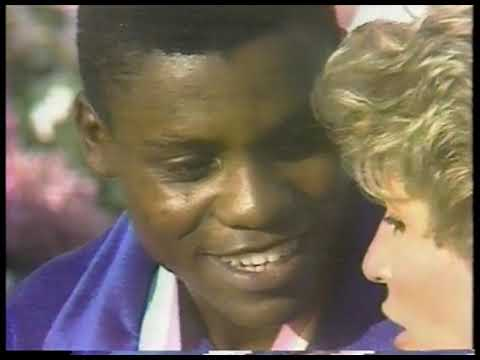 Olympics - 1984 - Los Angeles Games - Donna De Varona Interviews USA Carl Lewis After 4th Gold Win