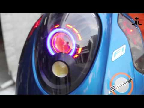 Video projector retrofit honda scoopy mh1 and 40w hpl