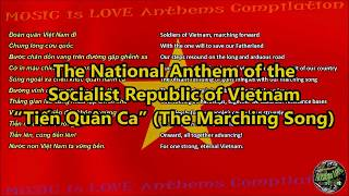Vietnam National Anthem with music, vocal and lyrics Vietnamese w/English Translation