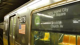 preview picture of video 'IND Crosstown Local: Bklyn & Long Island City-Court Sq bound R-68A G trains @ 21st Street-Van Alst!'