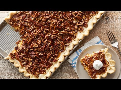 Caramel Pecan Cream Slab Pie | Pillsbury Recipe