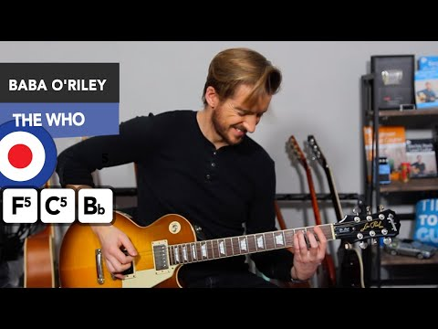 The Who - Baba O'Riley Guitar Lesson - EASY Rock Riffs on Guitar