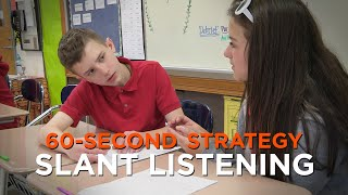 60-Second Strategy: SLANT Listening
