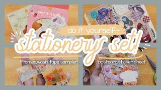 DIY Stationery Set! | Washi Tape Sampler, Postcard, Sticker Sheet — Useful & Easy! | Tweetums