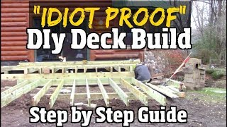 """""""Idiot Proof"""" Do it Yourself Deck Build -  Step by Step Guide to Composite decks pt1"""