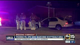One in custody after DPS, Phoenix PD search area