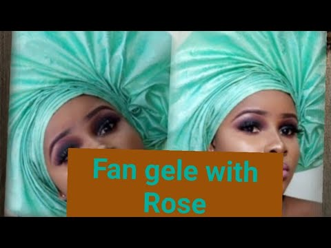 TRADITIONAL INSPIRED FAN GELE FOR AFRICAN BRIDE