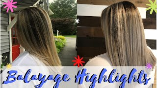 ASHY BLONDE BALAYAGE ON DARK HAIR \ HIGHLIGHT TUTORIAL
