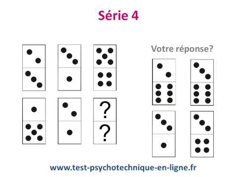 Test domino: tests psychotechniques