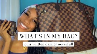 WHAT'S IN MY BAG 2020 | LOUIS VUITTON DAMIER EBENE NEVERFULL MM