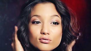 Смотреть онлайн Свежий красивый макияж для карих глаз