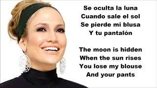 Jennifer Lopez - Amor, Amor, Amor ft. Wisin English and Spanish LYRICS