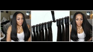 CHADE Synthetic Hair Weave 360WEFT Brazilian Knot Weft 3Pcs Samsbeauty.com
