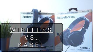 Wireless vs.  Kabel | Das Steelseries Arctis 1 und Arctis 1 WL | Review German