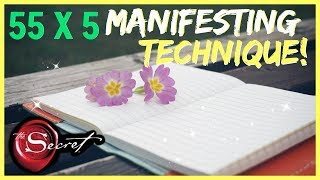 5 x 55 MANIFESTING METHOD! MANIFEST WHAT YOU WANT IN 5 DAYS LAW OF ATTRACTION TECHNIQUE!