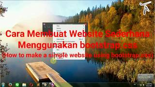 Tutorial Aja#2 Membuat Website Menggunakan bootstrap.css (How to Make a Website Using bootstrap.css)