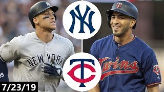 New York Yankees vs Minnesota Twins Highlights | July 23, 2019 (2019 MLB Season)